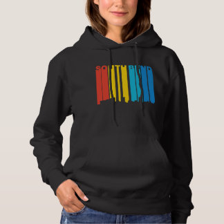 Retro 1970's Style South Bend Indiana Skyline Hoodie