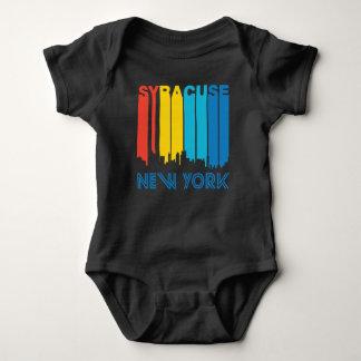 Retro 1970's Style Syracuse New York Skyline Baby Bodysuit
