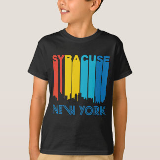 Retro 1970's Style Syracuse New York Skyline T-Shirt