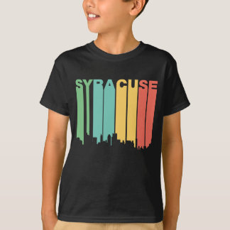 Retro 1970's Style Syracuse New York Skyline T-Shirt