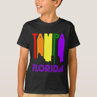 Retro 1970's Style Tampa Florida Skyline T-Shirt
