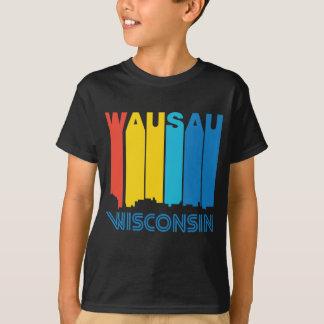 Retro 1970's Style Wausau Wisconsin Skyline T-Shirt