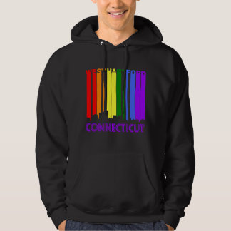 Retro 1970's Style West Hartford Connecticut Skyli Hoodie