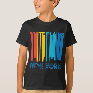Retro 1970's Style White Plains New York Skyline T-Shirt