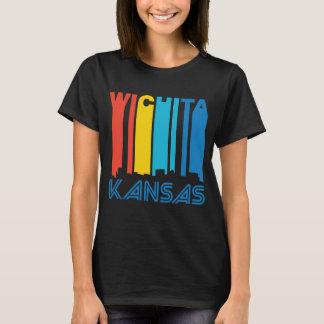 Retro 1970's Style Wichita Kansas Skyline T-Shirt