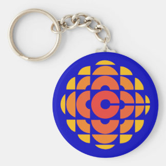 Retro 1974-1986 basic round button keychain