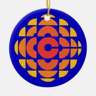 Retro 1974-1986 round ceramic ornament