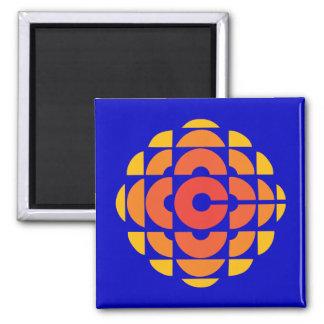 Retro 1974-1986 square magnet