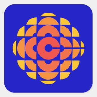 Retro 1974-1986 square sticker