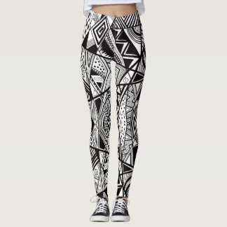 Retro 1980's Abstract Graffiti Leggings