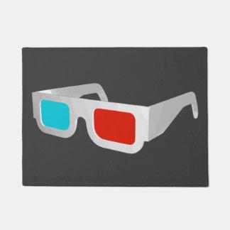 Retro 3D Glasses Doormat