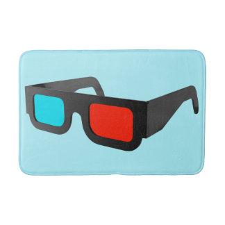 Retro 3D Glasses Graphic Bath Mat