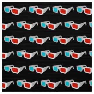 Retro 3D Glasses Graphic Fabric