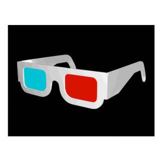 Retro 3D Glasses Graphic Postcard