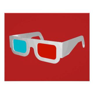 Retro 3D Glasses Graphic Poster