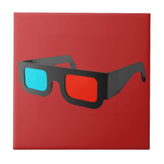 Retro 3D Glasses Graphic Tile