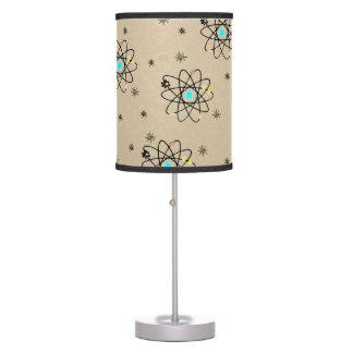 Retro 50s Atomic Print Sand Print Table Lamp