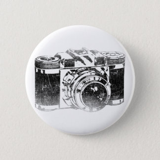 Retro 50's camera 2 inch round button