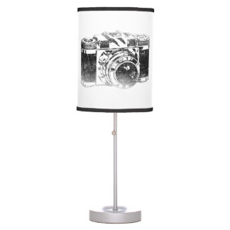 Retro 50's camera table lamp