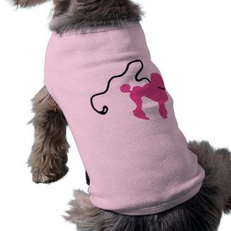 Retro 50's Felt Pink Poodle & Leash Shirt