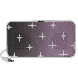 retro 50s pink star iPod speaker