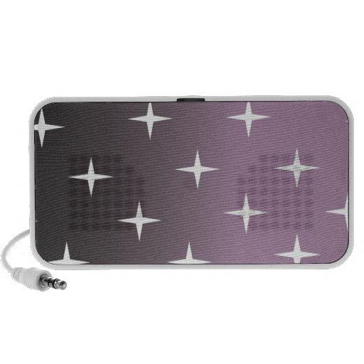 retro 50s pink star portable speaker