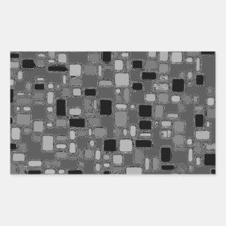Retro 50's Smooth Chrome Squares Sticker