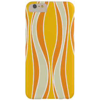 Retro 60ies orange wave pattern barely there iPhone 6 plus case