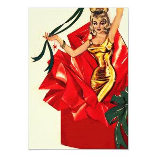 Retro 60s Christmas Invite. Card