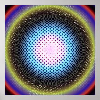 Retro 60s Op Art Sphere Poster