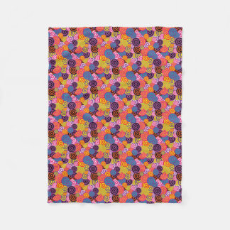 Retro / 60s Pattern Chic Fleece Blanket