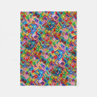 Retro / 60s Peace, Love, War Chic Fleece Blanket