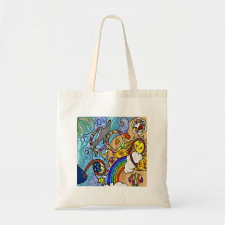 Retro 60s Psychedelic At The Beach Gifts Apparel Tote Bag