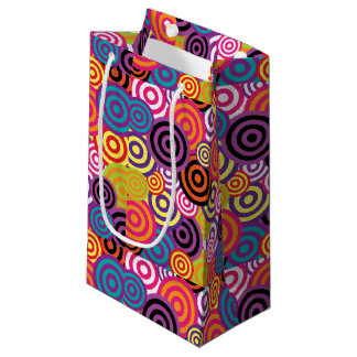 Retro 60s Psychedelic Pattern Small Gift Bag