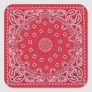 Retro 60s Red Bandanna Square Sticker
