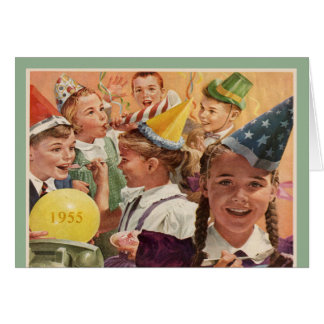 Retro 60th Birthday Party 1955 Childhood Memories Card