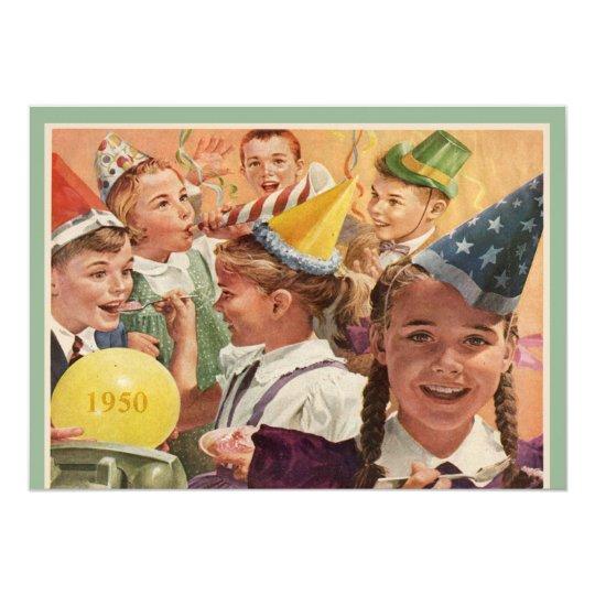 Retro 65th Birthday Party 1950 Childhood Memories Card
