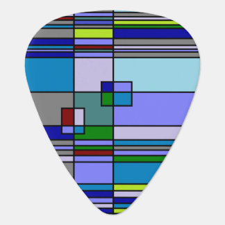 Retro 70s Abstract Guitar Pick