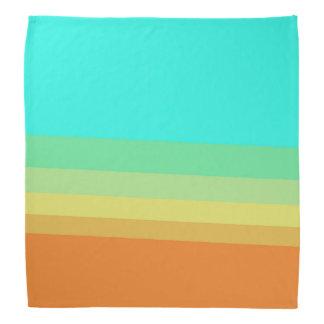 Retro 70's Color Block Gradient Bandana