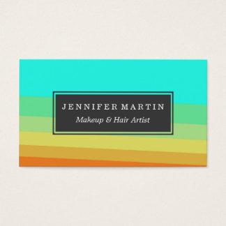 Retro 70's Color Block Gradient Business Card