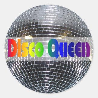 Retro 70s Disco Ball   Dancing Disco Queen Classic Round Sticker