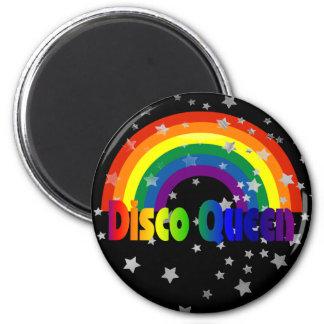 Retro 70s Disco Queen | Funky Rainbow Stars Magnet