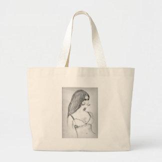 Retro 70's Fashion Model Jumbo Tote Bag