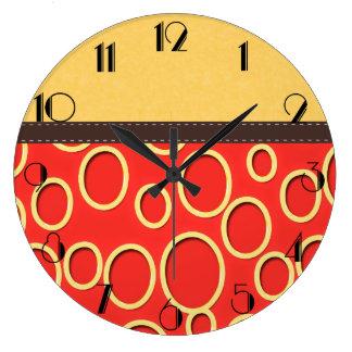 Retro 70s Inspired Orange & Yellow Art Wallclocks