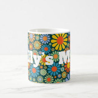 Retro/70s Pattern Personnalised Coffee Mug
