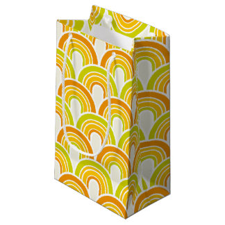 Retro 70s Pattern Small Gift Bag