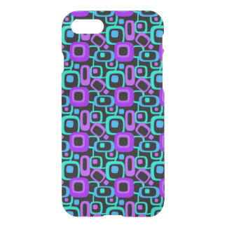 Retro '70's Purple and Teal Pattern iPhone 7 Case