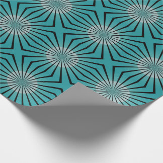 Retro 70s Teal Wrapping Paper