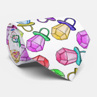 Retro 80's 90's Neon Colorful Ring Candy Pop Tie