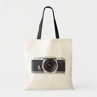Retro 80s Camera Canvas Grocery Bag